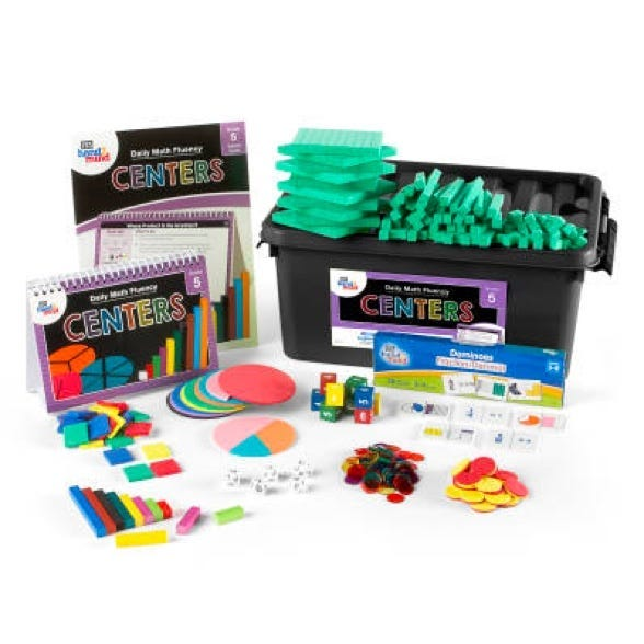 center kit for daily math fluency for fifth grade students