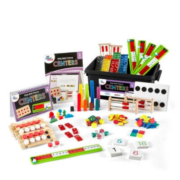 math center kit with for daily math fluency practice for kindergarten students