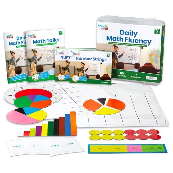 Daily Math Fluency kits to practice Math Talks