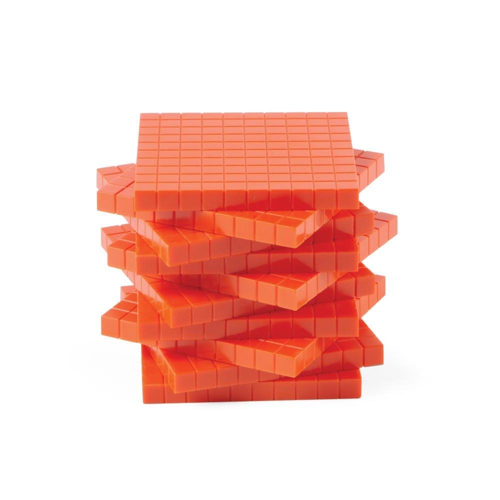 Base Ten red flats manipulatives
