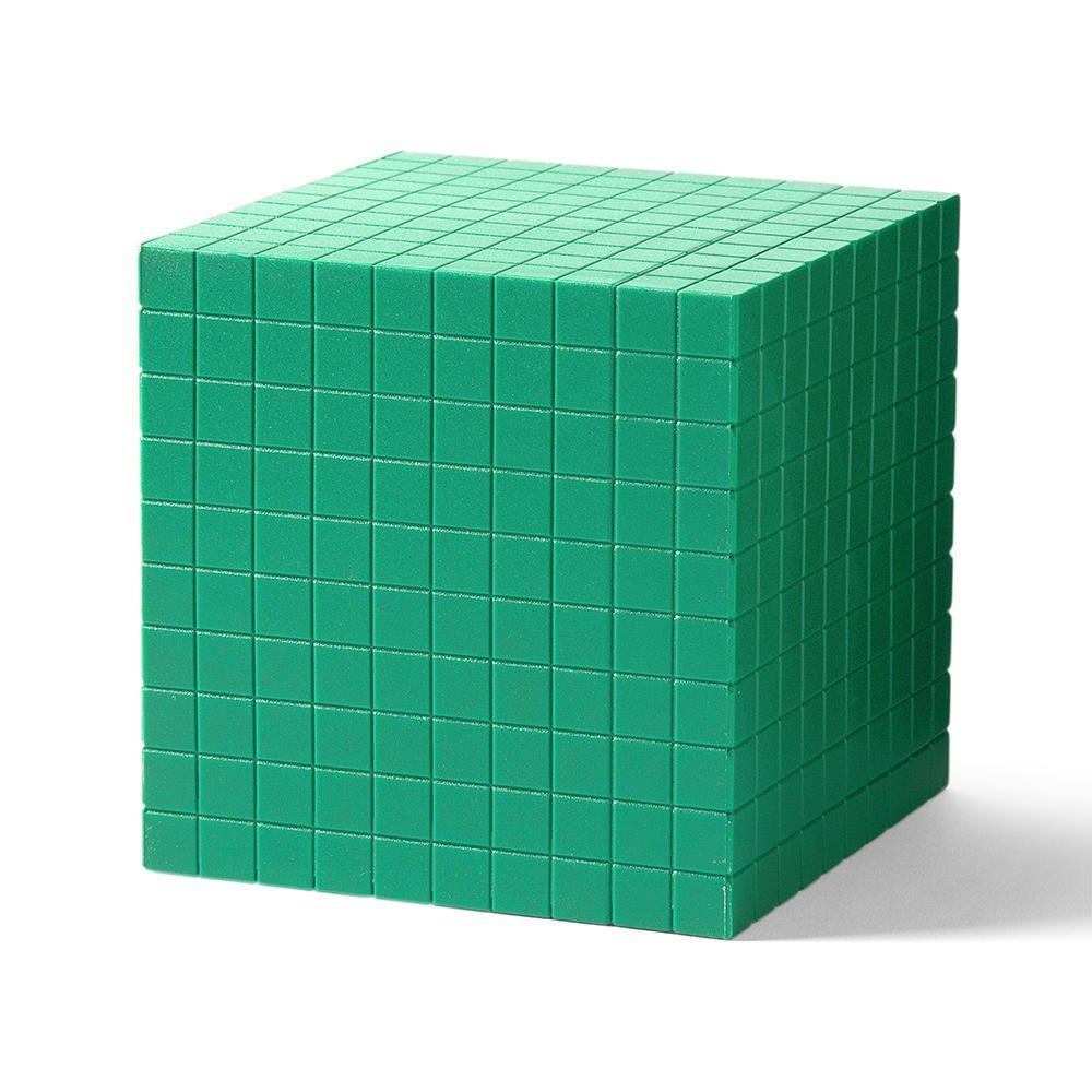 Base Ten green cubes manipulatives