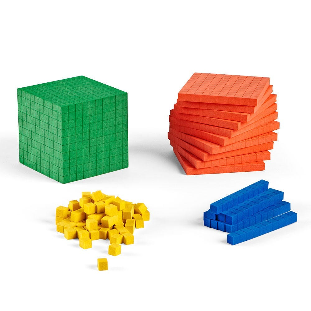 Base Ten starter, place value, and class sets manipulatives