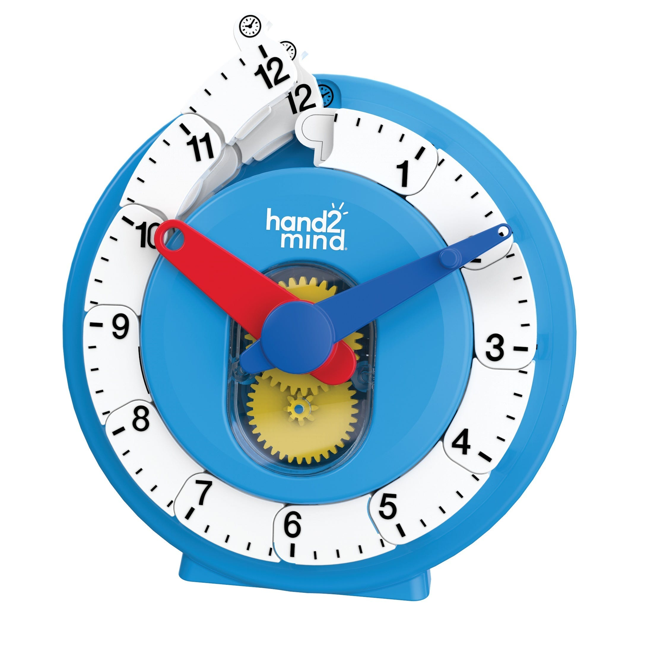 Advanced geared NumberLine Clock to teach elapsed time