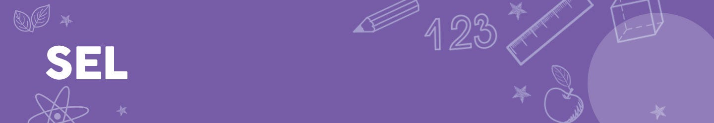 purple box with SEL lessons