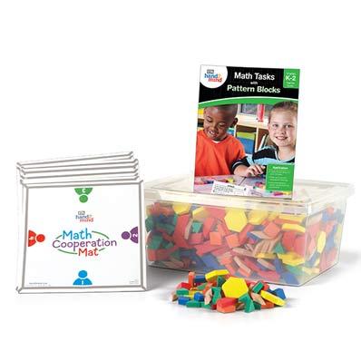 Supplemental Math Kit for math tasks pattern blocks