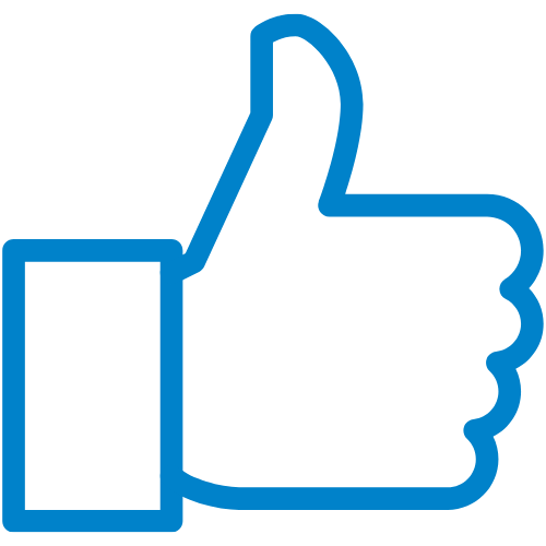 blue thumbs up