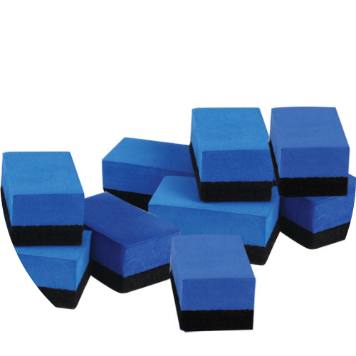pack of blue white board erasers