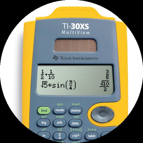 yellow and gray TI calculator