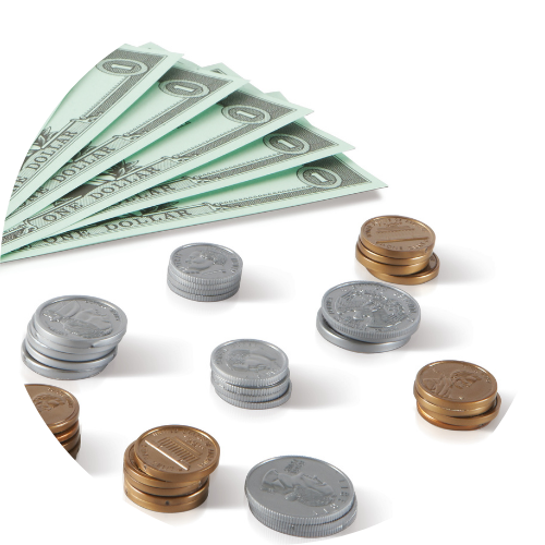 play dollars and coins math manipulatives