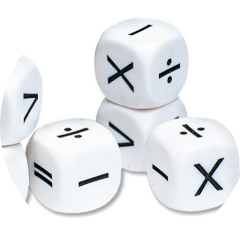 white operations dice