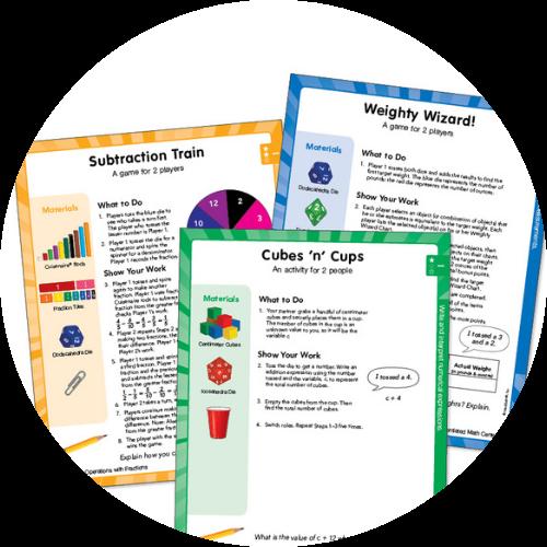 differentiated math center card teacher resources
