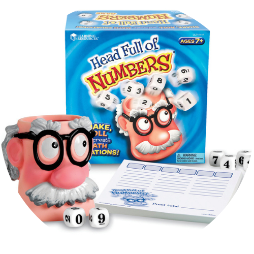 math game head full of numbers