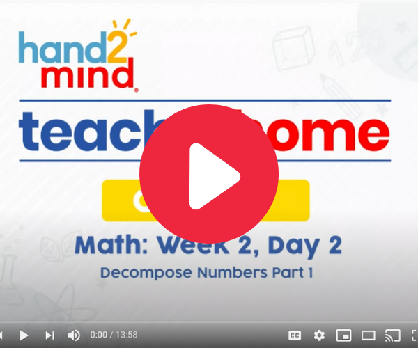 Decompose Numbers video for second graders