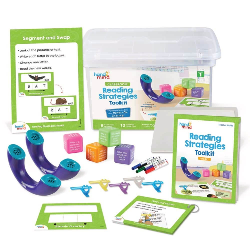 Reading Strategies Toolkit with manipulatives spread out