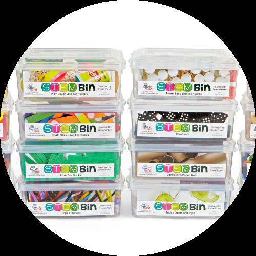 8 bins from the Brooke Brown STEM Bins set