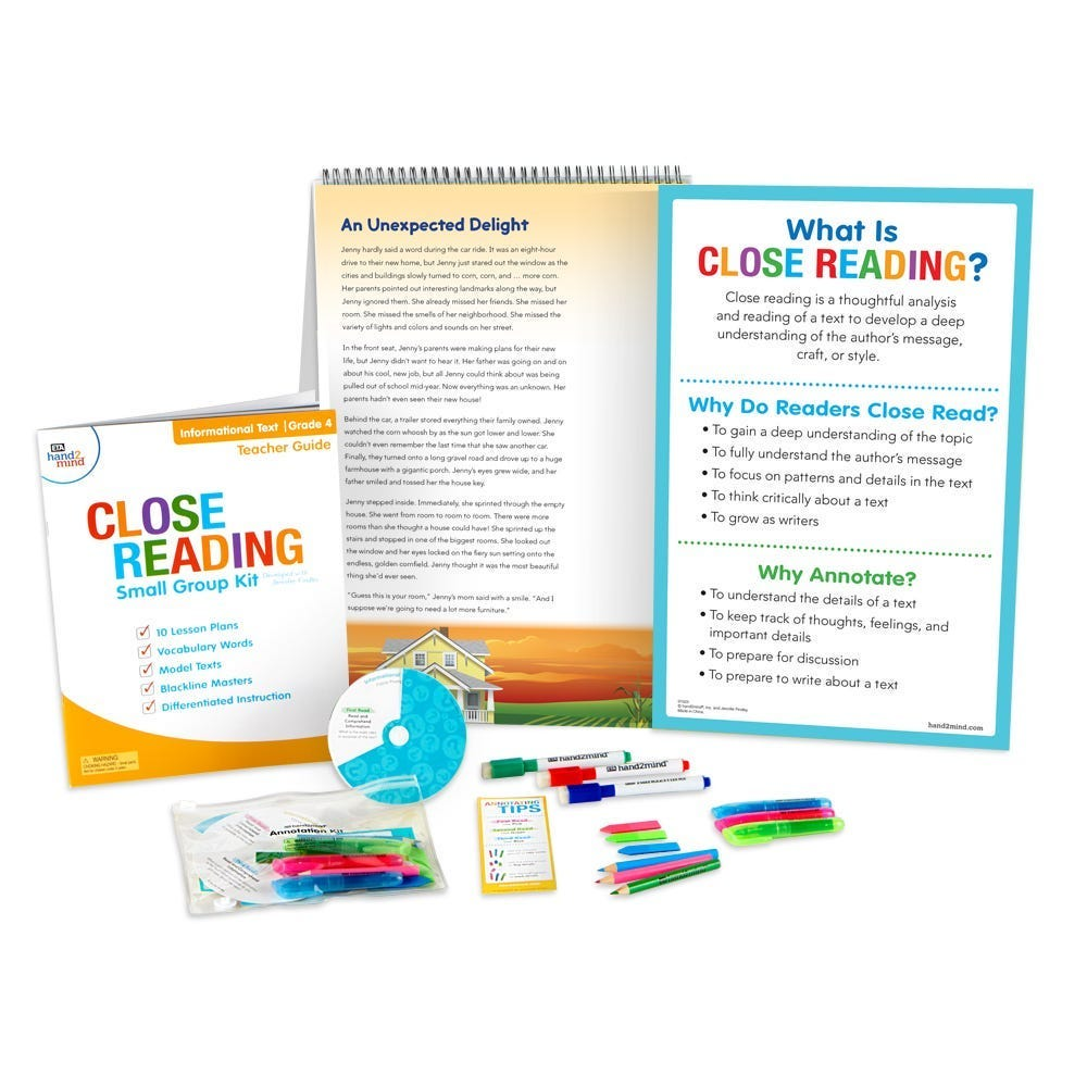 close reading small group kit image for the texas landing page