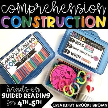 hands-on guided reading comprehension construction for 4th - 5th grade, infographic