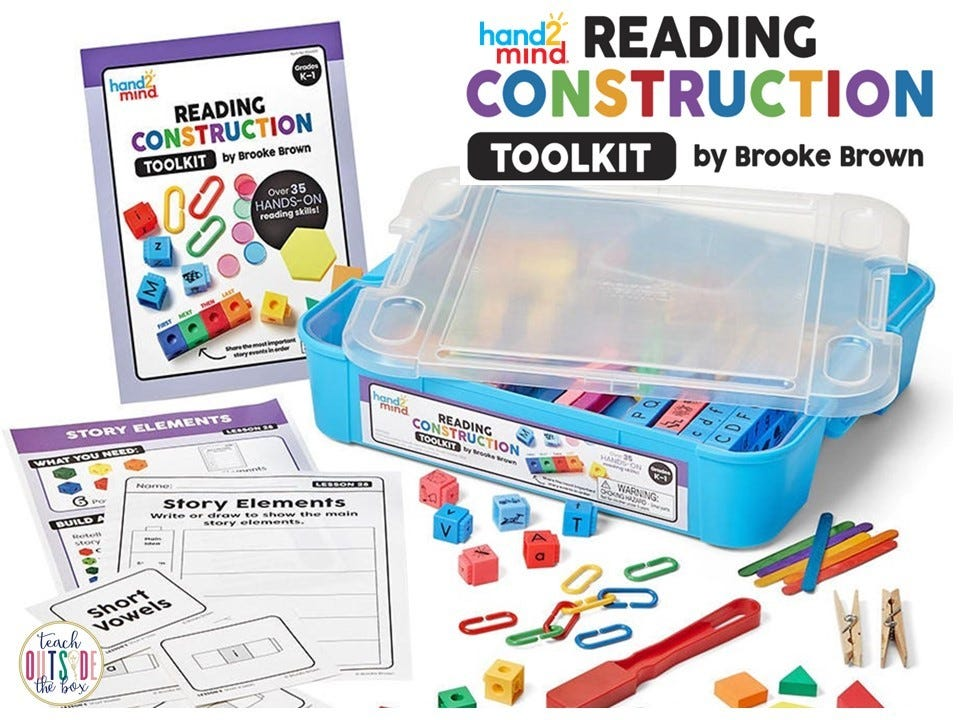 hand2mind reading construction toolkit, infographic