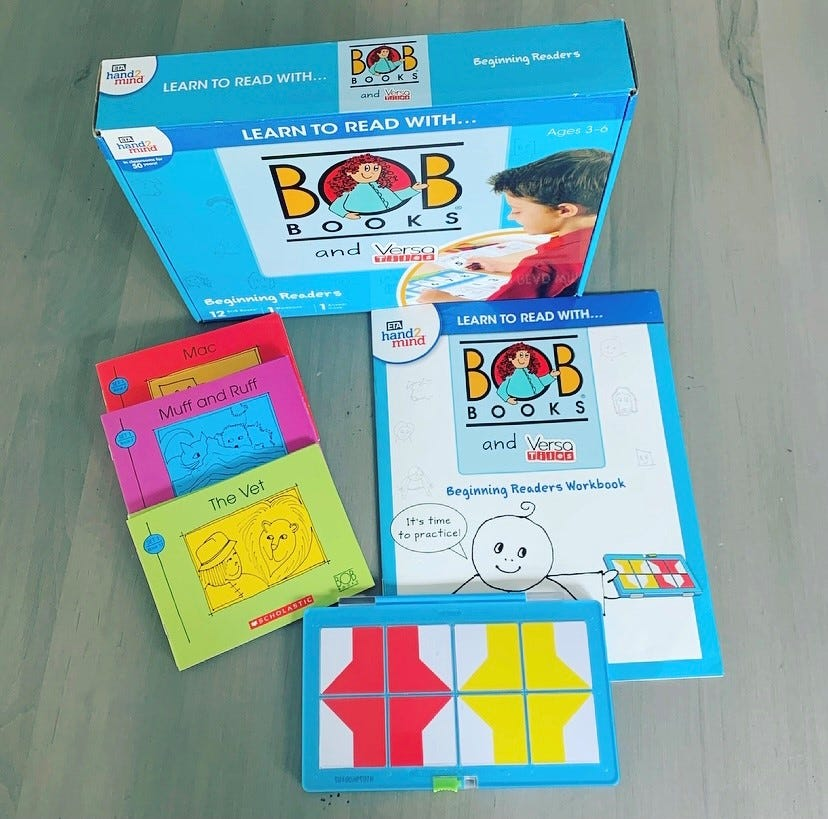 Learn to read with Bob Books and VersaTiles Set from Hand2mind