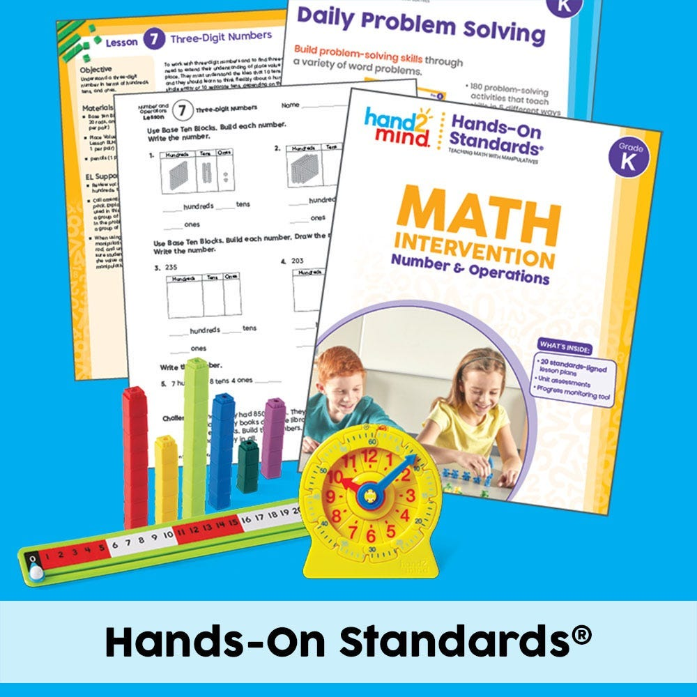 hands-on standards kits in the homepage featured section