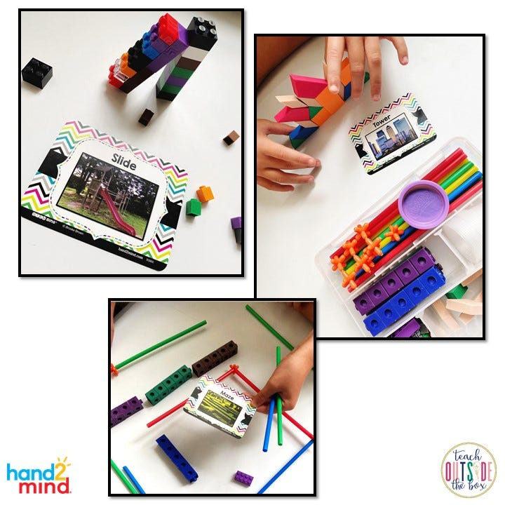 STEM Bins Learn and Play Packs from Hand2mind engage students through hands-on activities